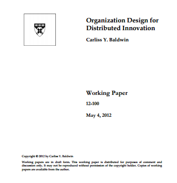 Organization Design for Distributed Innovation